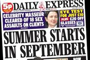 Daily Express print readership drops by more than quarter, says Pamco