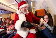 EasyJet creates in-flight grottos with Captain Claus