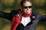 Elton John: stars in the Burberry Christmas campaign
