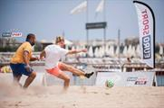Eurosport will host an international football match on the beach