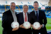 Chris Skeith, Michael Hirst and Chris Foy celebrate the launch of Events are Great Britain
