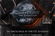 London selected as first location for Game of Thrones exhibition tour