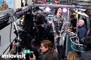 Jessie J performed around central London