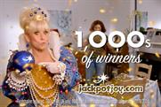 Jackpot Joy: sharing the top spot with Moneysupermarket.com and Snickers