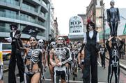 TransferWise skeletons marched across London