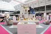 The activation featured a wedding cake made from John Lewis products