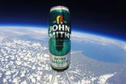 The beer caught a view of the Earth from 37,430 metres into the atmosphere