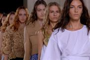 Jonathan Saunders on the SS15 catwalk (British Fashion Council)