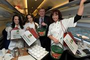 The chefs took part in gravy sampling on the train