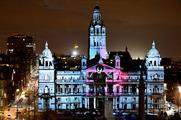 Creative production studio Found showcased musician Labrinth's latest single Let it Be with a choreographed 3D light show in Glasgow