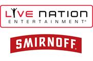 Smirnoff forms 'multi-year' partnership with Live Nation