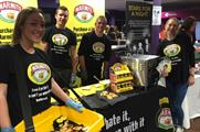 Students can grab a sample of Marmite on toast at freshers' fairs (@harrietkeogh)