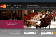 MasterCard: to promote global Priceless Cities initiative