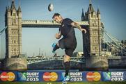 Dan Carter: New Zealander kicks off MasterCard's sponsorship of Rugby World Cup 2015