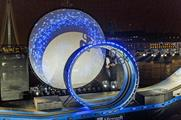 Microsoft's Cortana brand staged a cycle stunt in London last night