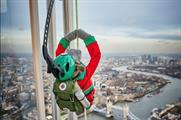 Monkey began his monumental mission 72 floors up The Shard