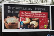 Lidl 'sabotages' upmarket rivals with punchy outdoor campaign