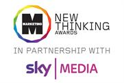 Sky Media has signed up as headline partner of Marketing New Thinking Awards