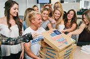Laing delivered his own 'Sexy Sicilian' pizza across London