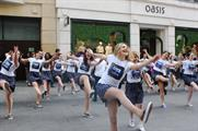 Swing Patrol performed outside Oasis on Argyll Street