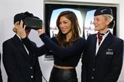 Scherzinger and BA representatives try out the new tech
