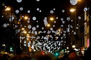 The Christmas lights for 2015 have been inspired by falling snowflakes