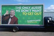 Controversial: The sentiment of the ad crossed the line, said Paddy Power