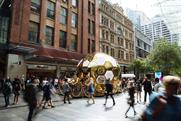 Pandora creates gold beehive experience to launch new collection in Sydney