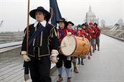 The ECWS marched across Millennium Bridge as Roundheads