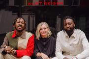'Together, we move': Ibrahim Kamara, Kurt Geiger's CCO Rebecca Farrar-Hockley and Jide Adetunji