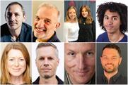 Clockwise from top left: Droga, Pattison, Walters, Banks, Ankrah, Trew, Sellick, Cox, Perkins