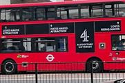 Naked Attraction: ad for Channel 4 show was seen on a London bus (Photo: Tracey King @tkingdot)