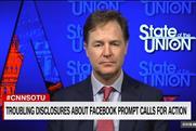 Nick Clegg: interviewed on CNN