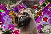 Three creates brunch for guests to pet pugs and take selfies with giant rainbow poo