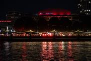 Banks of Thames turned red in support of events industry