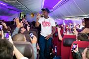 The acts performed up and down the plane