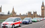 The #RugLee fleet is making its way around London throughout the World Cup
