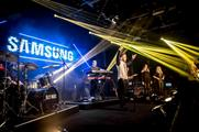 Samsung and Vodafone joined forces for the exclusive gig
