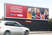 Sky Sports promotes its launch of dedicated channels with a striking and strongly branded OOH campaign
