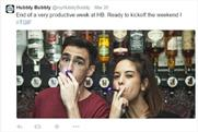 Hubbly Bubbly: this ad posted on Twitter was one of five banned by the ASA