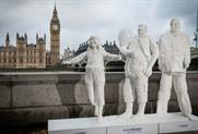 The statues represented how much daily sugar is consumed by children, teenagers and adults