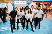Sam and Louise Thompson appeared at the activation in London