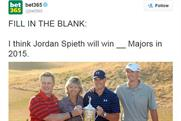 Bet365: tweeted this picture of Jordan Speith (second from right) after he won the golf US Open