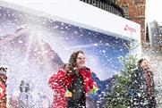 Swiss International Air Lines uses billboard to deliver snow on-demand
