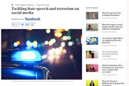 Facebook pays for positive sponsored content in The Telegraph