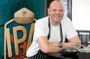 Tom Kerridge will serve up food to complement Greene King's IPA