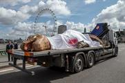 The T. Rex caught the attention of Londoners yesterday (1 June)
