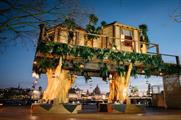 The treehouse will remain in place until Thursday (28 January) evening