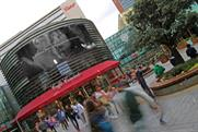 Waitrose uses digital outdoor media to make it snow at Westfield