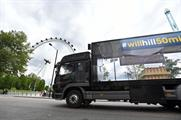 The lorry was driven around a number of London landmarks